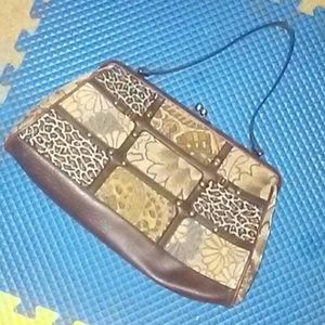 BUENO Animal print and Tapestry Purse
